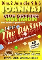 Vide grenier-vide jardin et Thé dansant à Joannas - Joannas