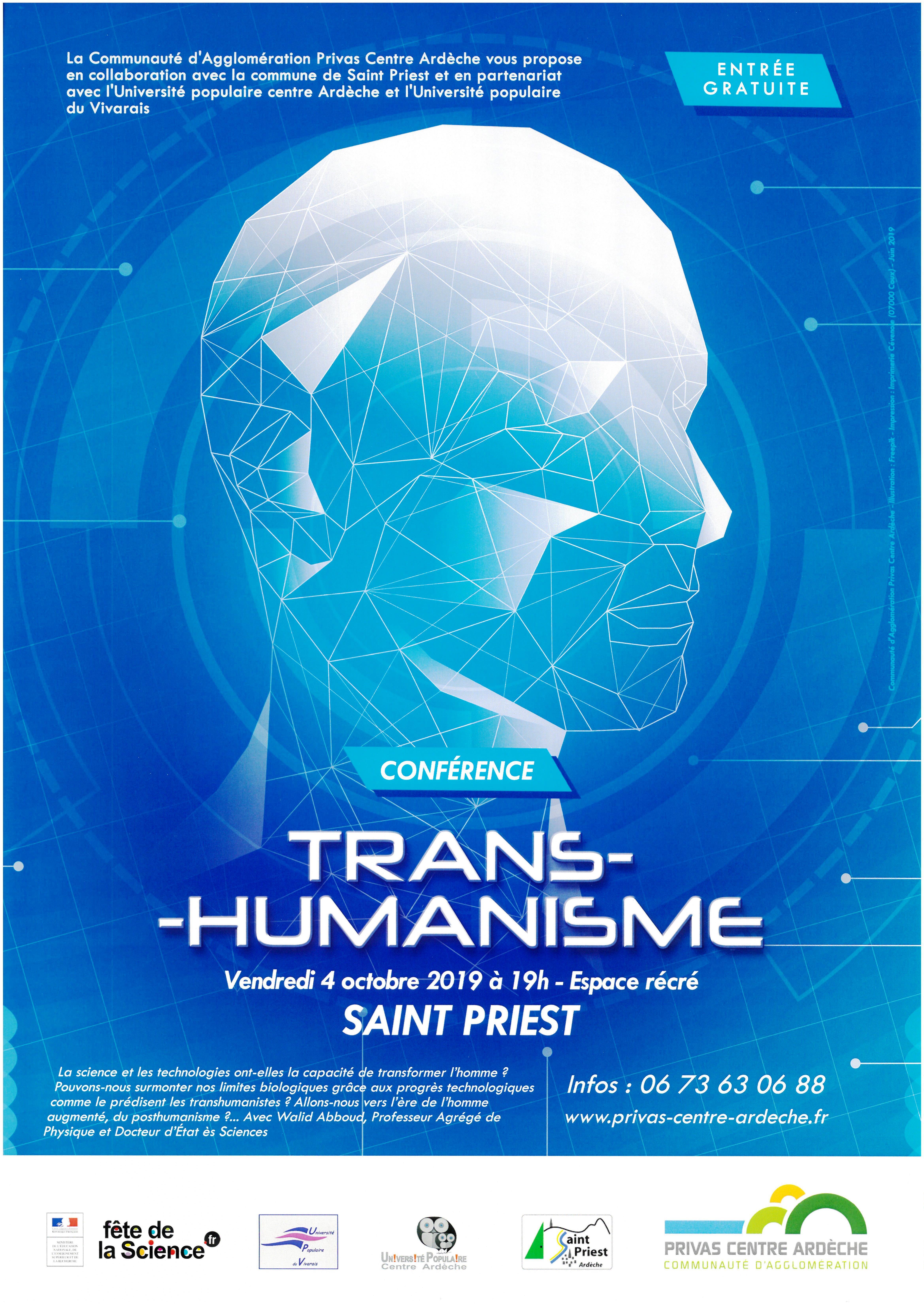 Rendez-vous futés ! : Fête de la science : conférence Le transhumanisme