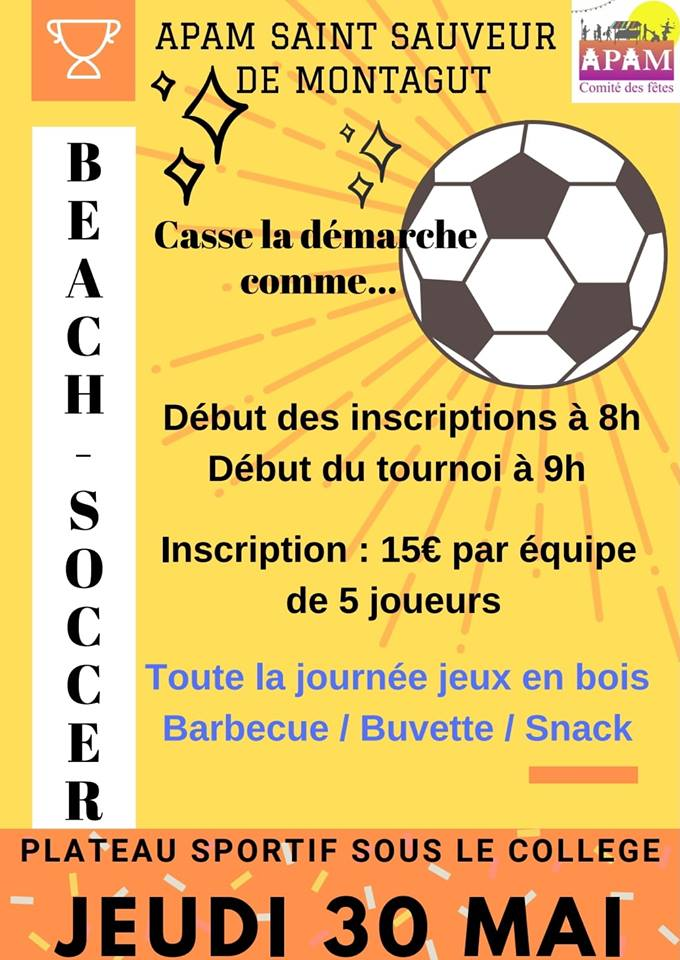 Ascension en fête : Tournoi de Beach Soccer