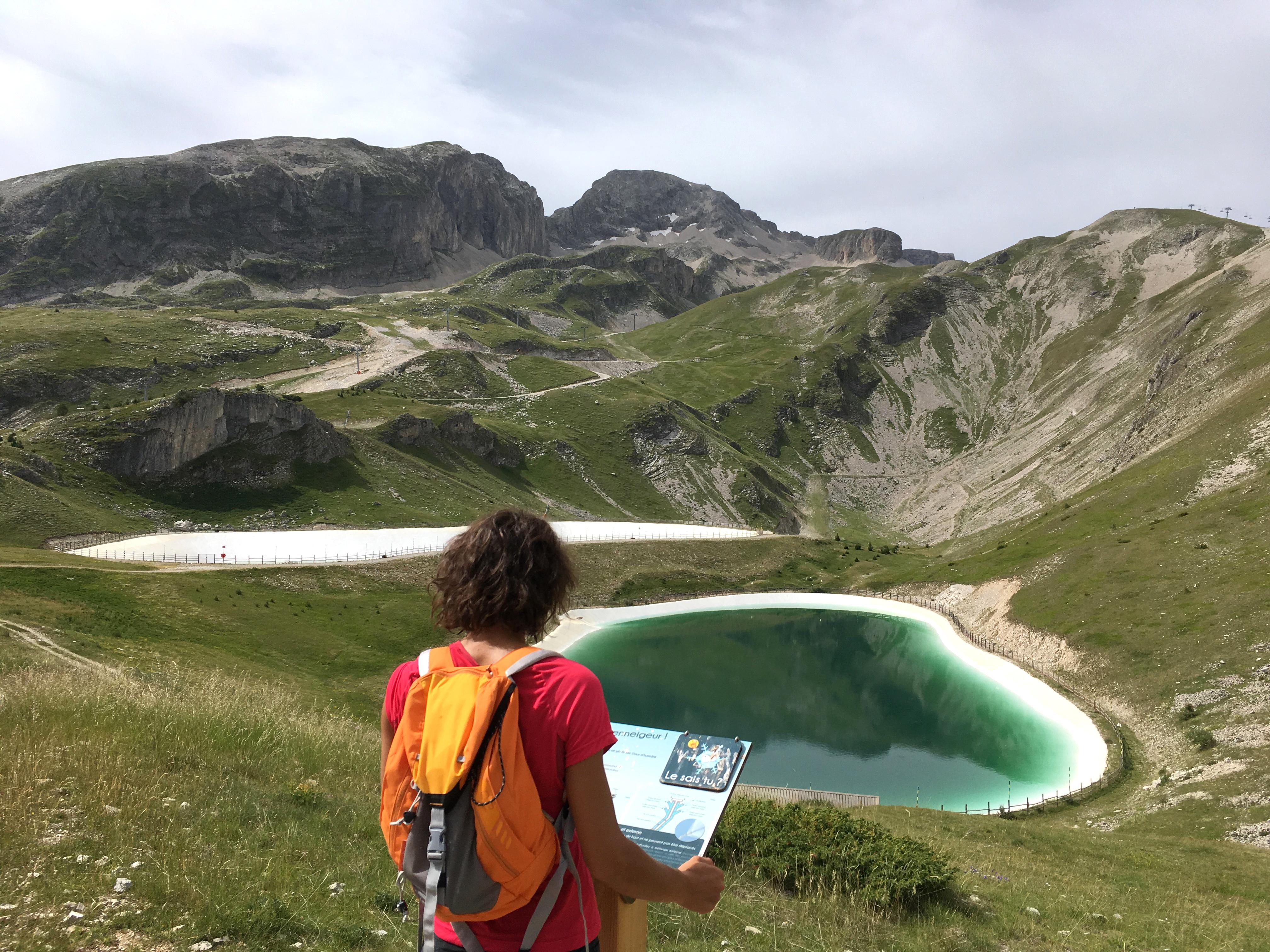 Sentier thématique à la découverte des retenues collinaires, massif du Dévoluy, Hautes-Alpes