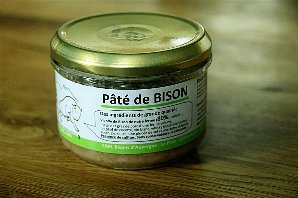 Bisons d'Auvergne terrine de bison Ⓒ Christel et Matthieu Peron