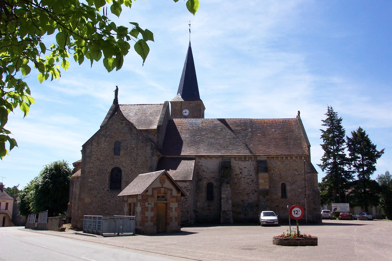Église Saint-Loup Façade Ⓒ Mairie de St-Hilaire