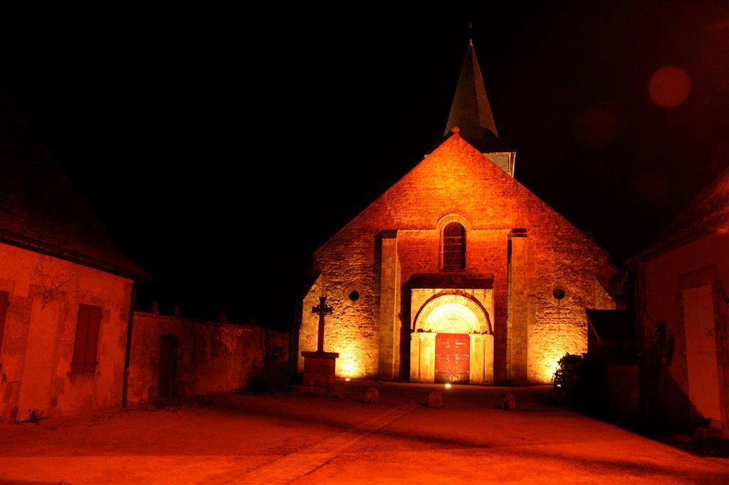 Eglise Saint-Etienne - Franchesse Nocturne Ⓒ Mairie Franchesse