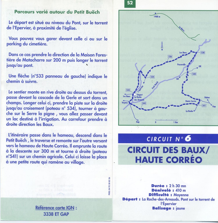 Descriptif Circuit N°6 - Circuit des Baux / Haute Corréo