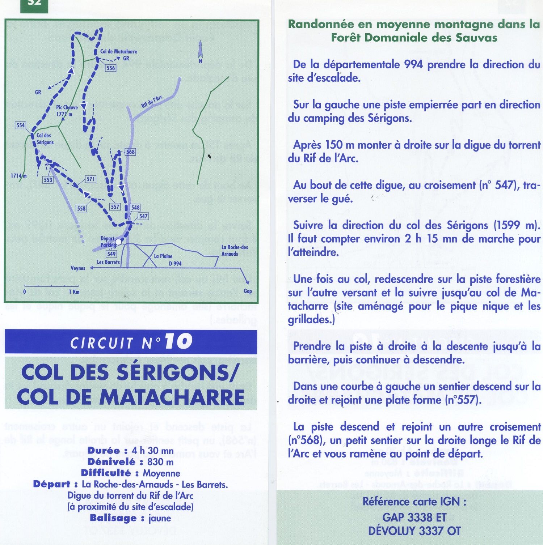 Descriptif Circuit N°10 - Col des Sérigons/Col de Matacharre