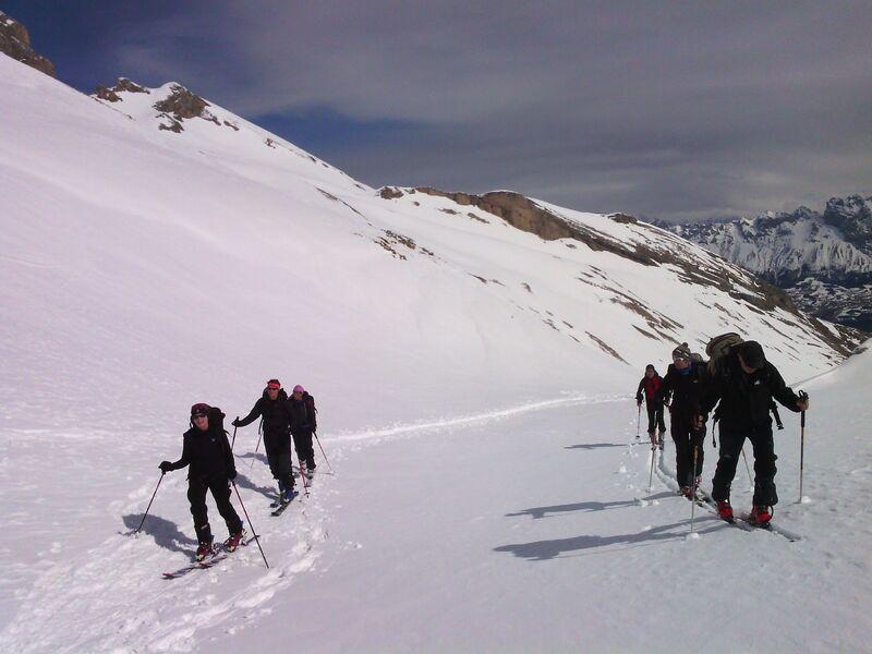 Sortie en ski de randonnée avec François Chaix, Dévoluy, Hautes-Alpes