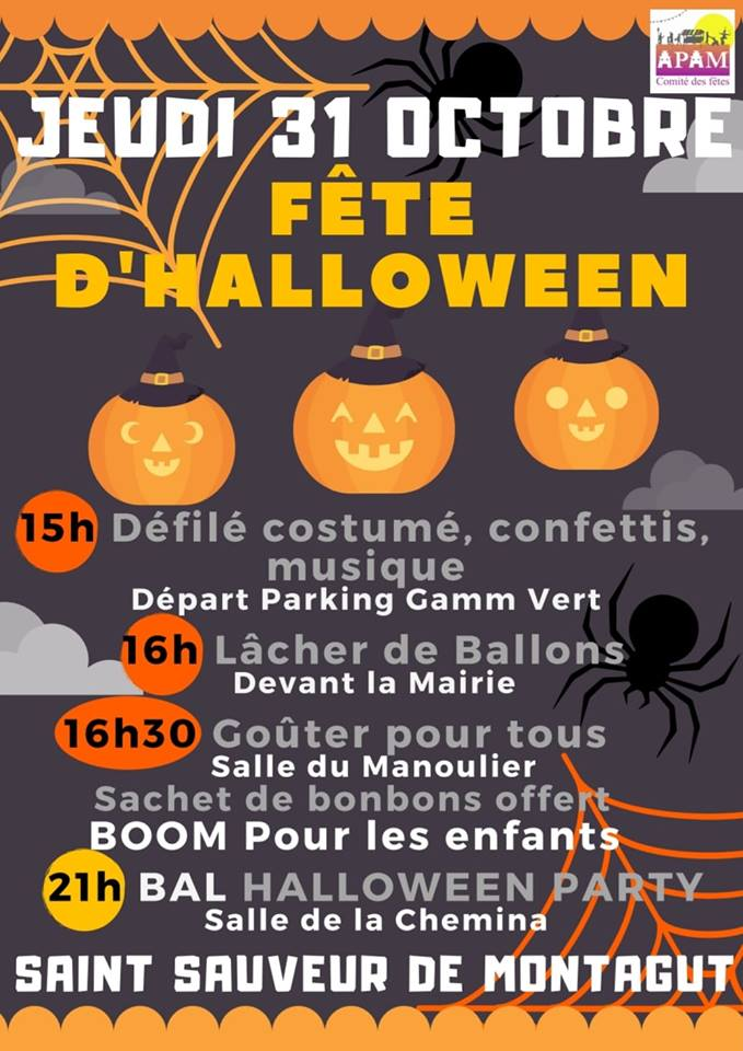 Events…Put it in your diary : Fête d'Halloween