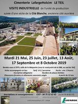 Visite de la Cité Blanche et de la Cimenterie  Lafarge Holcim Le Teil - Le Teil