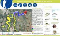 Plan d'eau-barrage de Rochebut Plan Ⓒ Fédé de la pêche