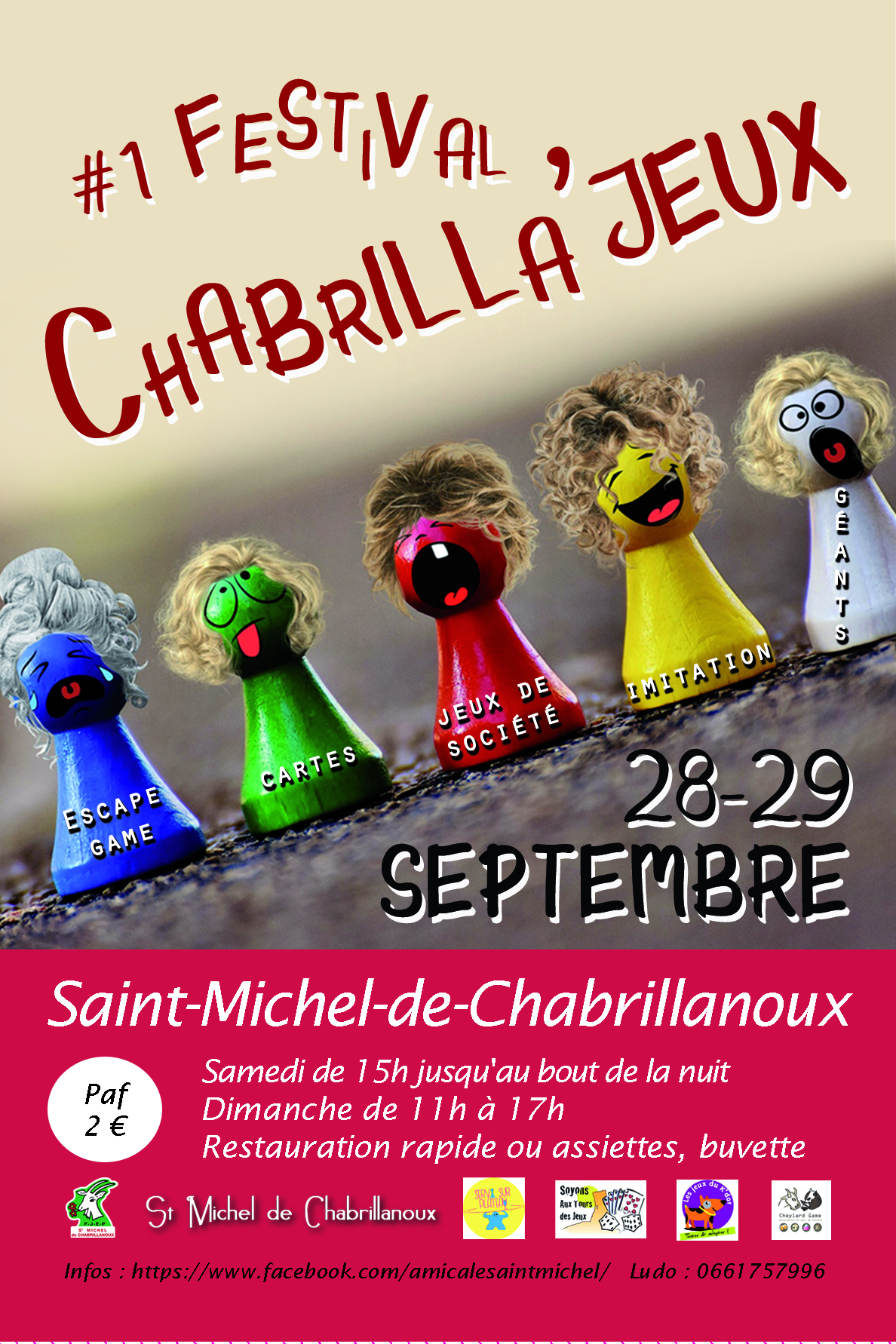 Alle leuke evenementen! : #1 Festival Chabrilla'jeux