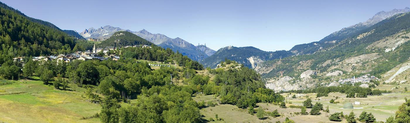 Villarodin - Le Bourget avec La Norma en toile de fond