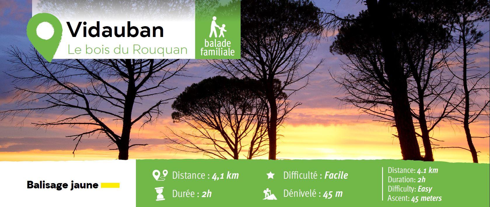 Randonnée pédestre : le Bois du Rouquan
