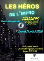 Les héros de l'impro : improvisation théâtrale participative - Chassiers