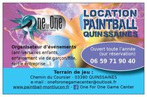 One For One Game Center - Paintball Recto Flyer Ⓒ PaintballQuinssaines - 2017