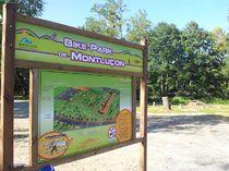 Bike Park Panneau et itinaéraire du Bike Park Ⓒ Direction Sports jeunesse mairie Montluçon - 2016