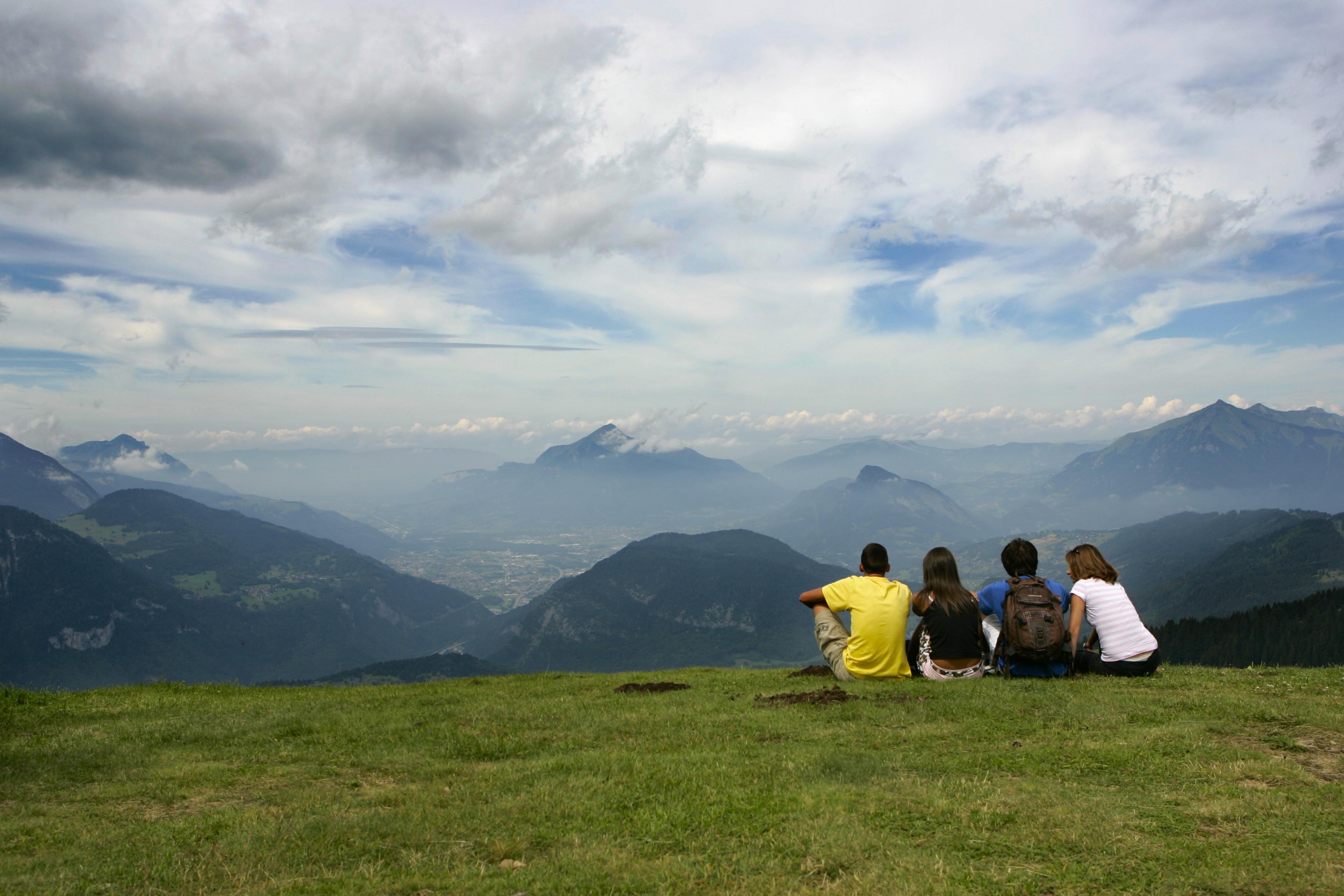 vue panoramique sur la vallée de l'Arve
