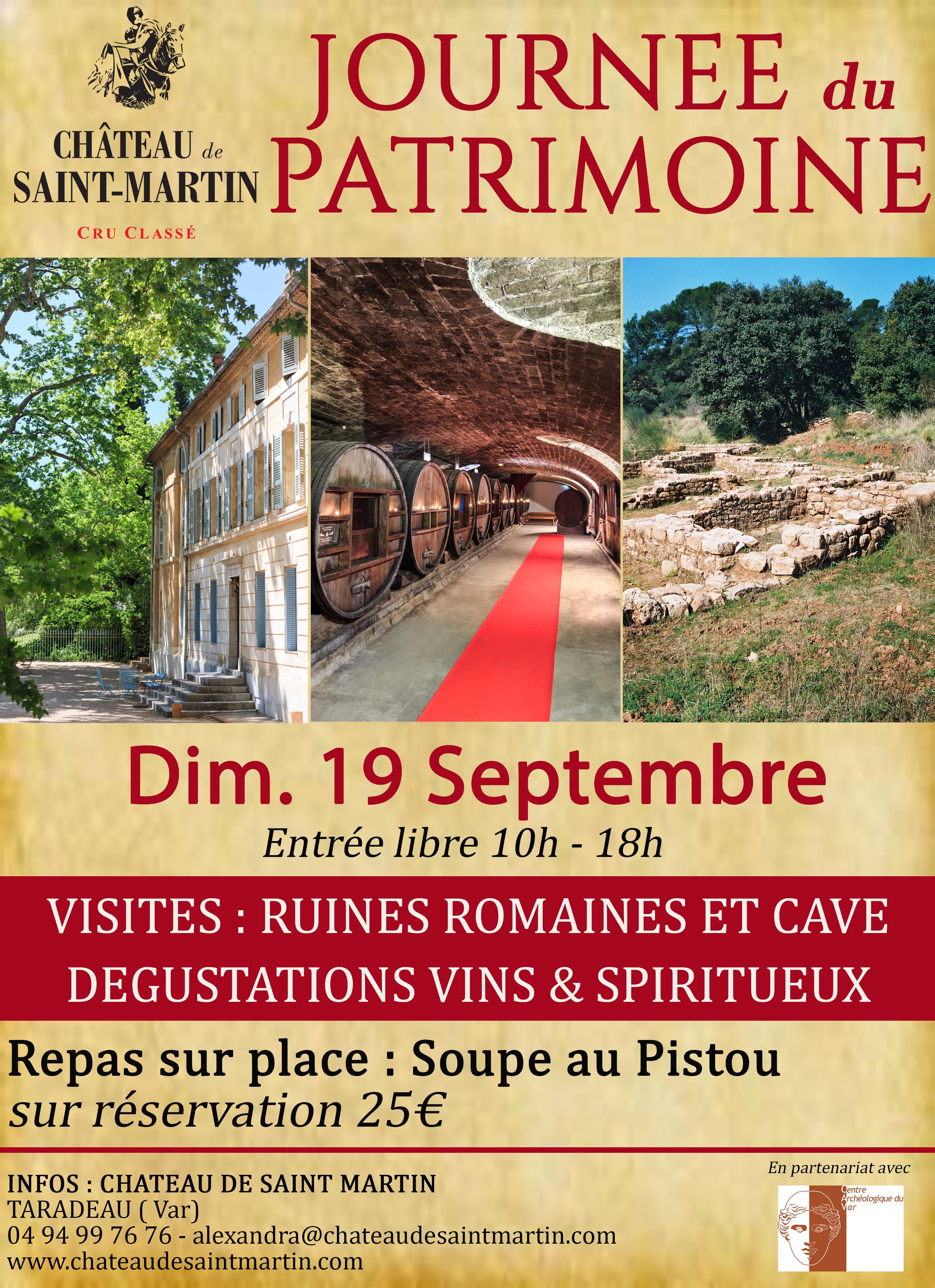 Journée du Patrimoine au Chateau de Saint Martin