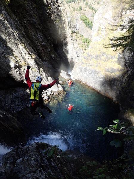 Canyoning avec Philippe Meyer, Dévoluy, Hautes-Alpes - © Philippe Meyer
