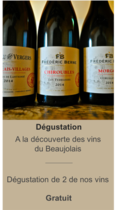 """Dégustation """"A la découverte des vins du Beaujolais"""""""