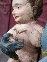 Église Notre-Dame Détail statue Vierge à l'oiseau Ⓒ Mairie - 2020