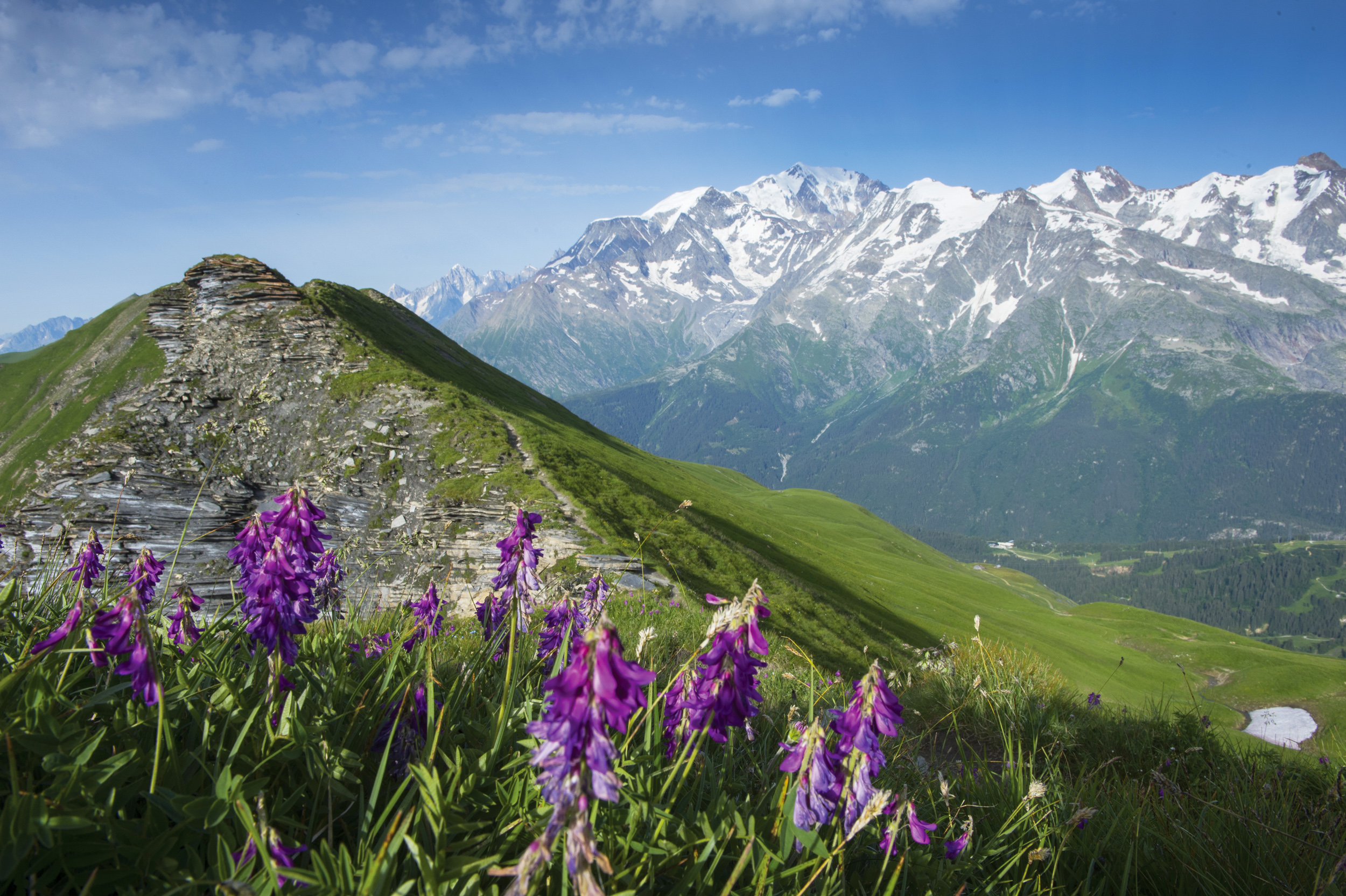L'Aiguille Croche et le massif du Mont-Blanc