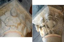 Église Saint-Nicolas/Sainte-Croix Chapiteaux peints Ⓒ Mairie de Droiturier - 2014