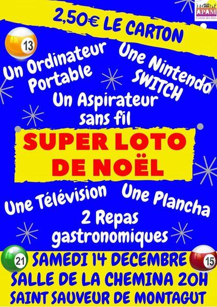 Super loto de Noël - Saint-Sauveur-de-Montagut