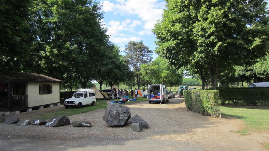 Camping Le Gué de Loire Arrivée au camping Ⓒ Camping le Gué de Loire - 2015