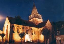 Église Saint-Nicolas Église de nuit Ⓒ Mairie La Chapelaude