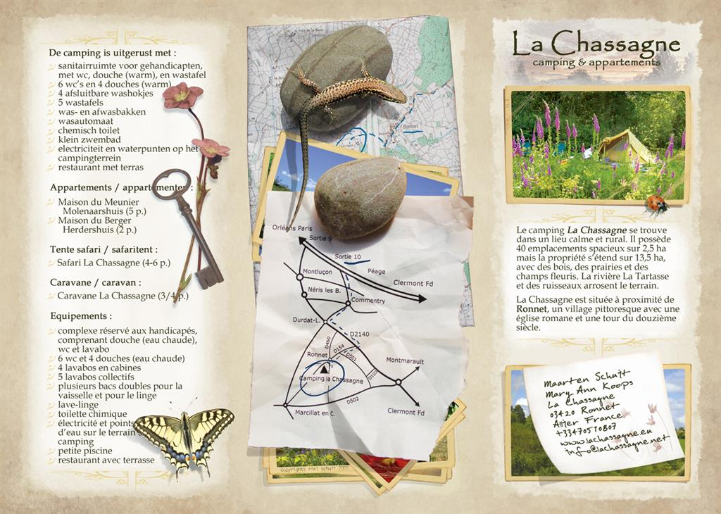 Camping La Chassagne Flyer camping Ⓒ Camping La Chassagne - 2015