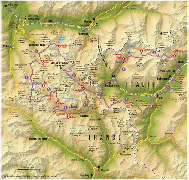 Carte Tour du Thabor Internationale - © ©Alexandre Nicolas