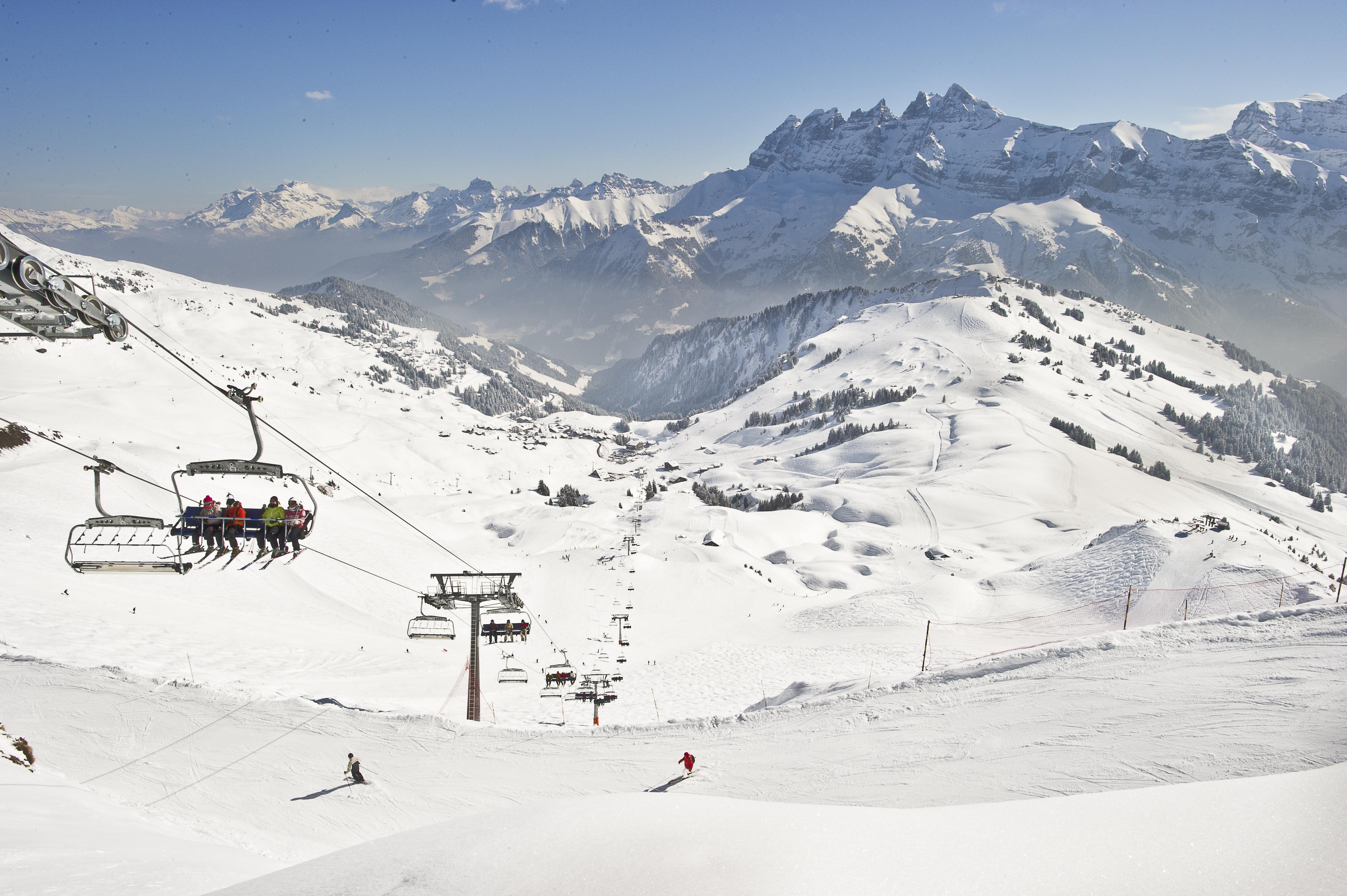 Domaine alpin champ ry les crosets champoussin - Domaine skiable les portes du soleil ...