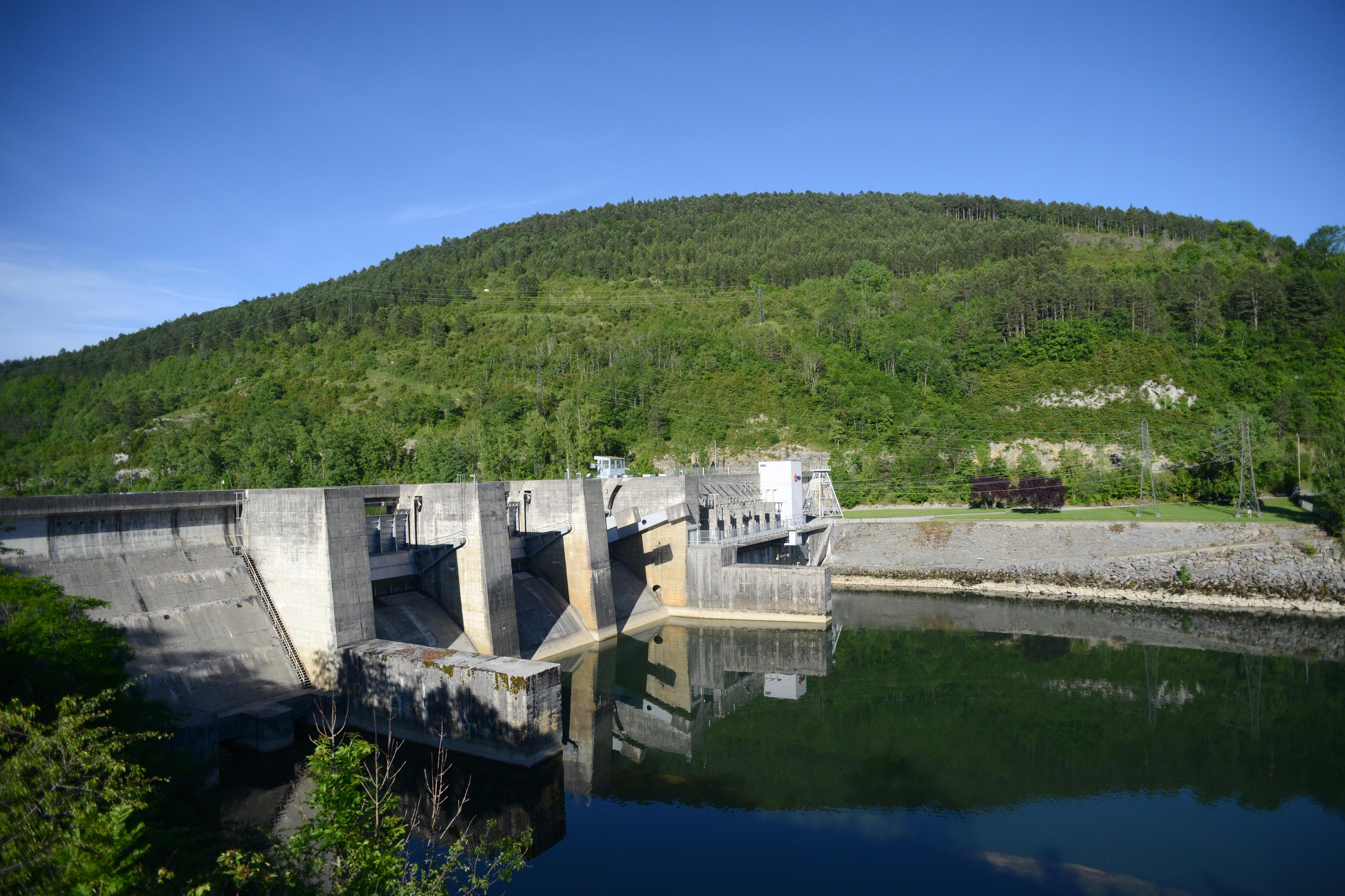 Barrage Allement rivière d'Ain