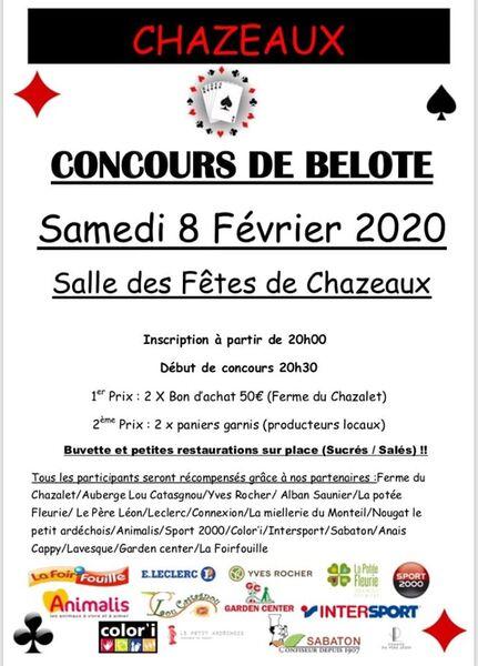 Concours de belote - Chazeaux