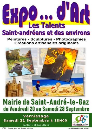 Exposition dArt  Les talents Saint-Andréens et des environs