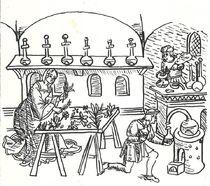 Conservatoire des Arts médicinaux alchimiques Dessin distillation des alcools Ⓒ La Tour des Trésors du château
