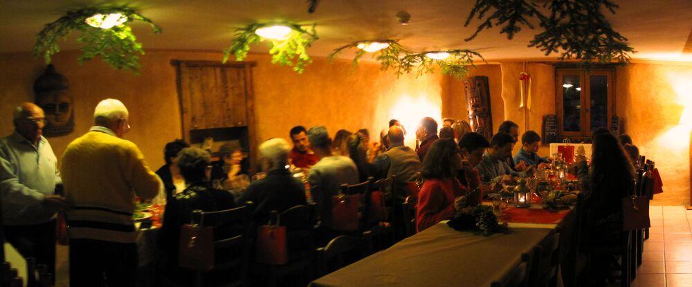 Gite 7 degrés Est Ristolas Queyras salle repas