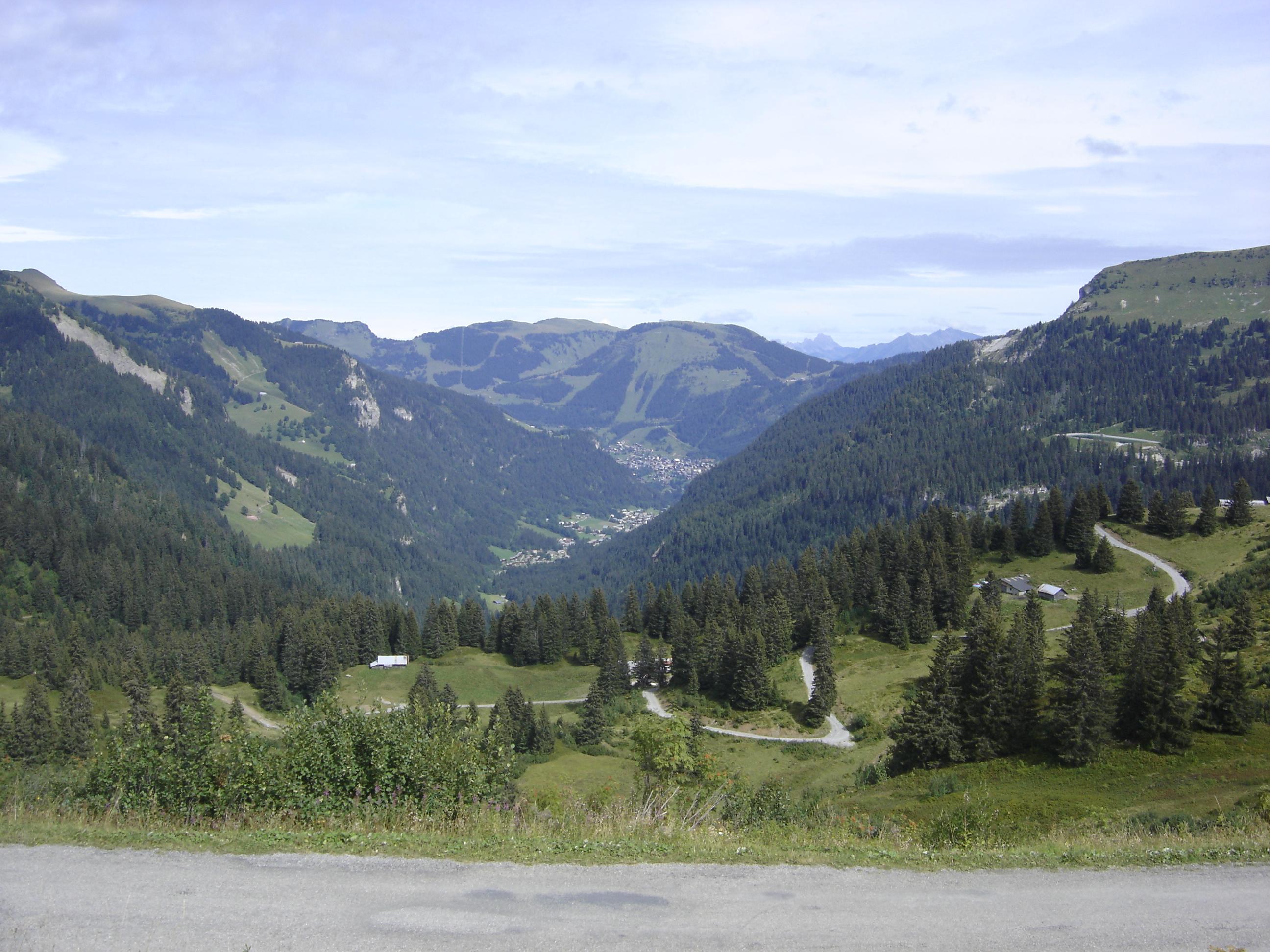 Vue sur Châtel depuis le Col de Bassachaux