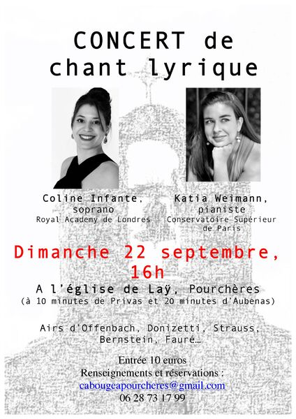 Concert de chant lyrique - Pourchères