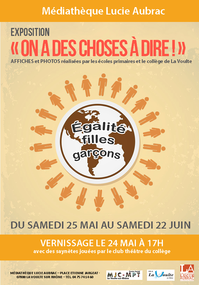 Events…Put it in your diary : Exposition : On a des choses à dire !