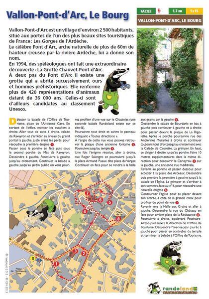 Randoland | Vallon Pont d'Arc, Le Bourg - Vallon-Pont-d'Arc