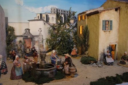 Vie du village - La Fontaine - Le Village Provençal Miniature