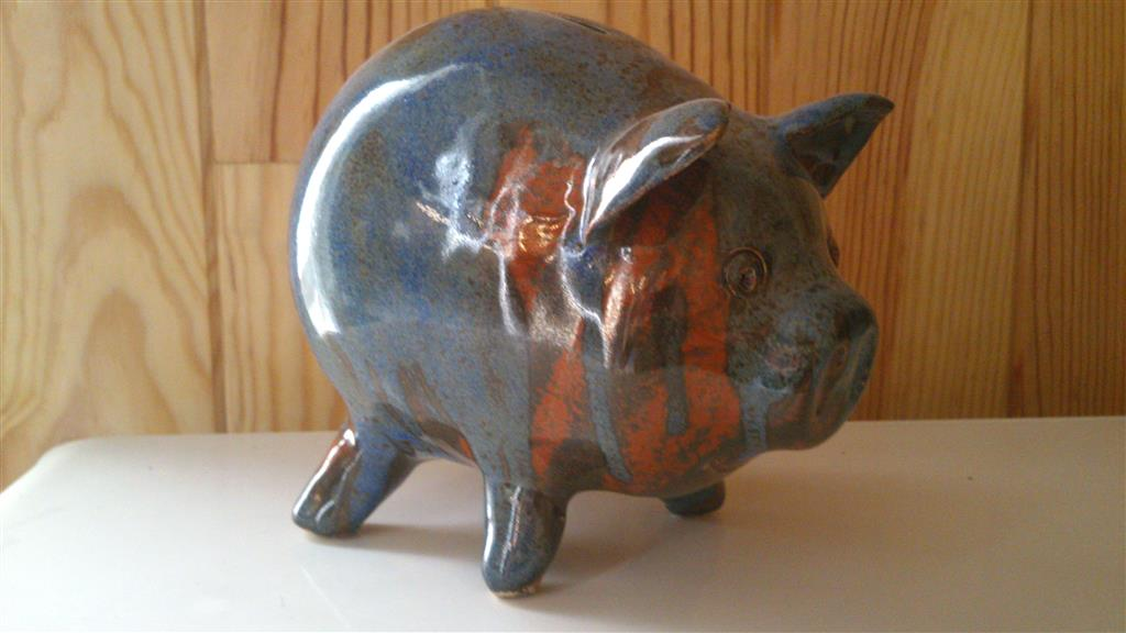 Poterie A. Couraud tirelire Cochon Ⓒ Poterie A. Couraud - 2015