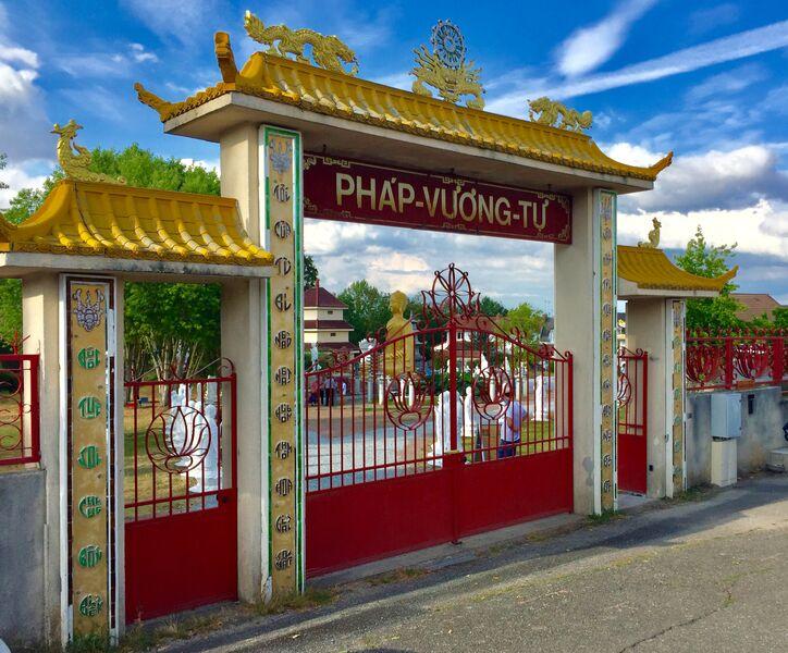 Entrée Jardin de la Pagode Pagode Phat Vuong Tu