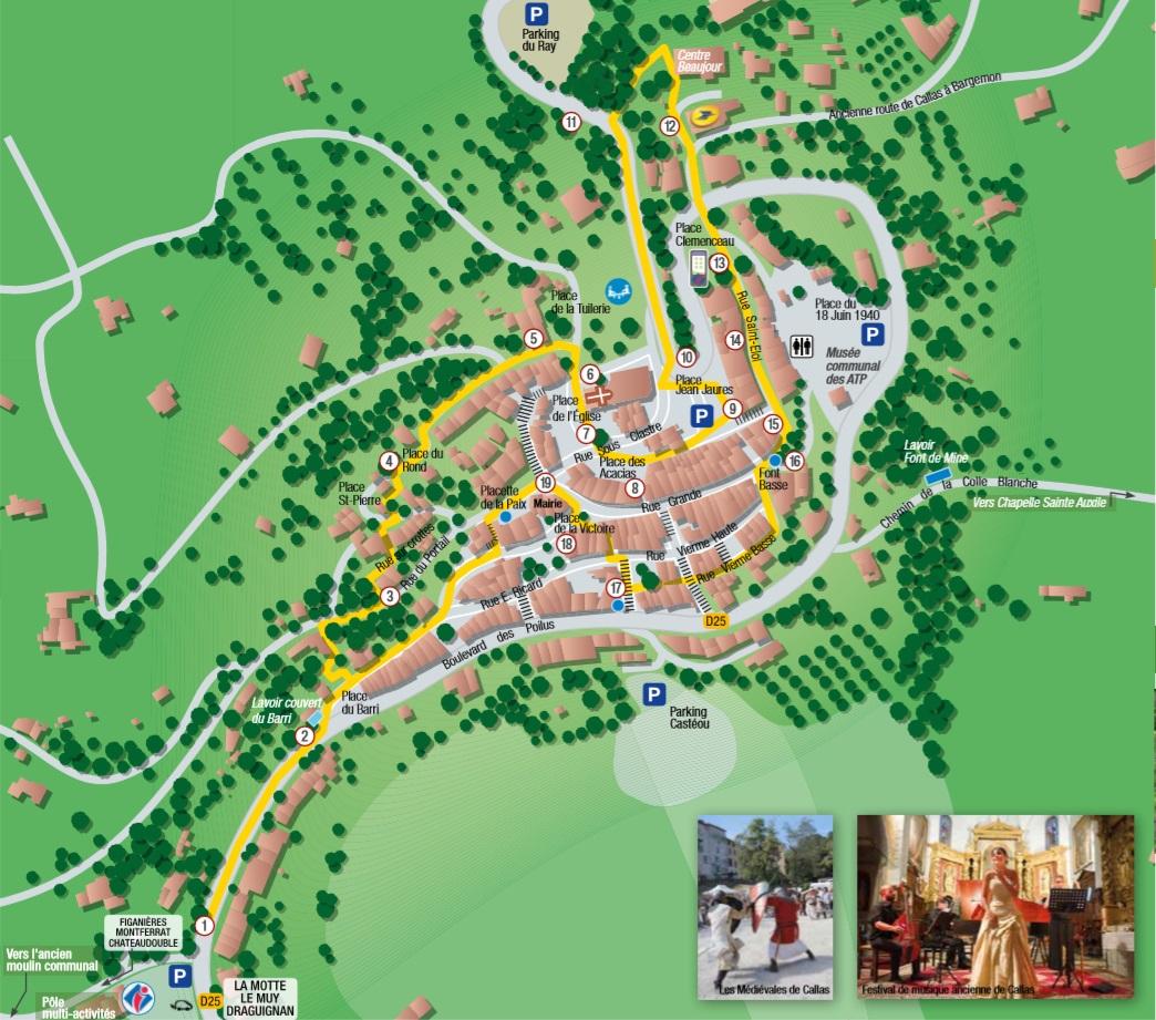 Circuit connecté à la découverte du village de Callas