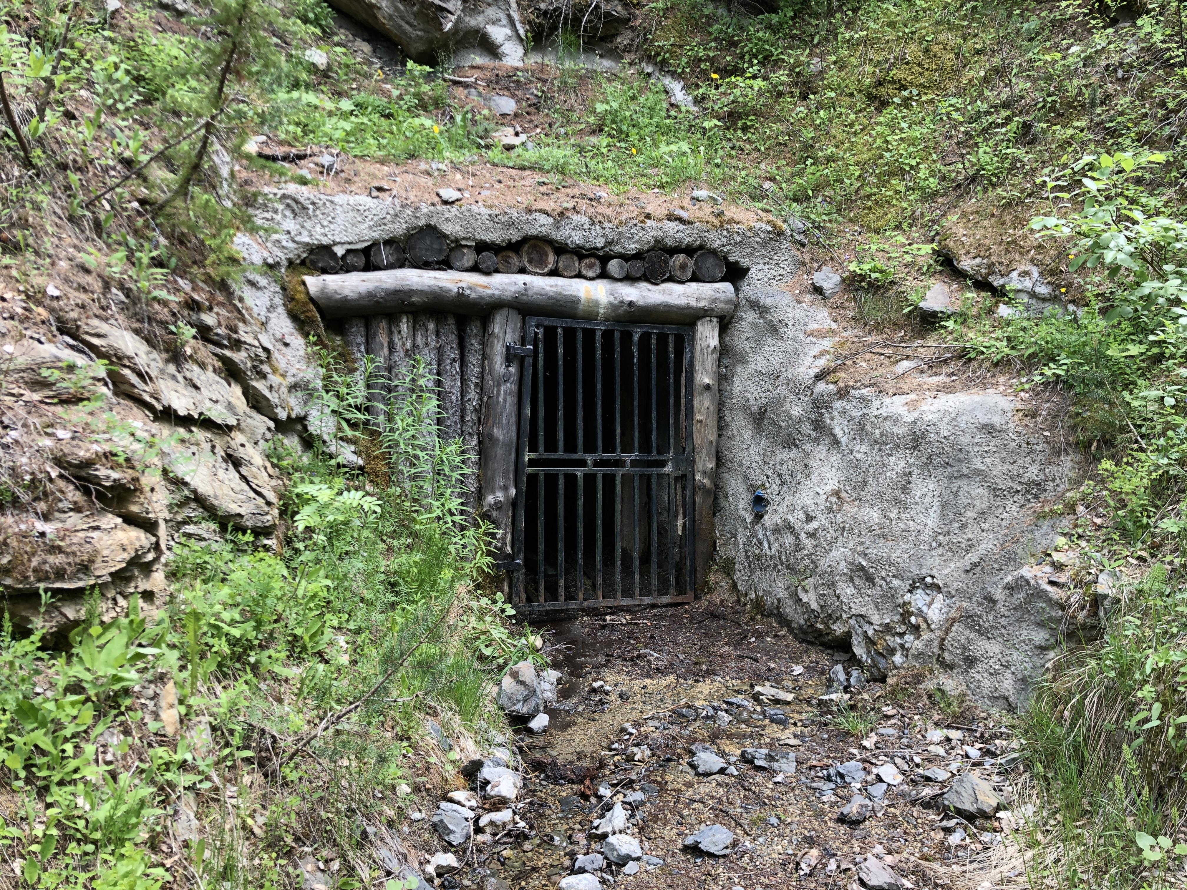 Sentier des mineurs -entrée d'une mine de Villard Saint Pancrace