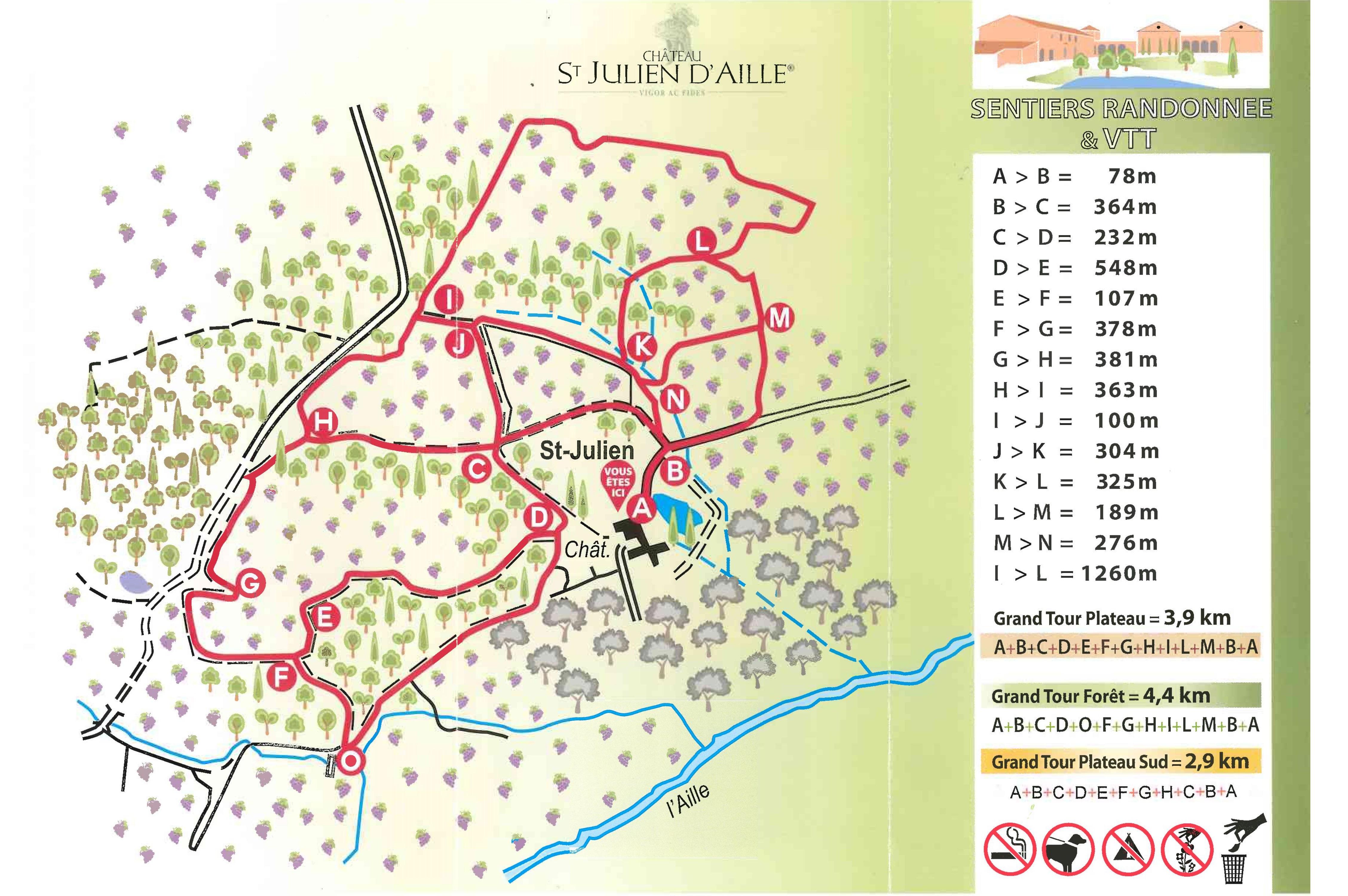 Sentiers de Randonnée & VTT - Château St. Julien d'Aille
