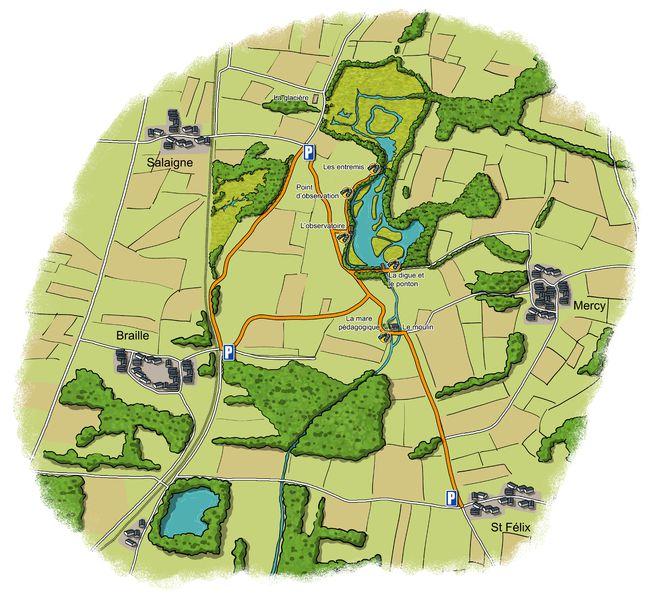 plan l'étang de Crosagny
