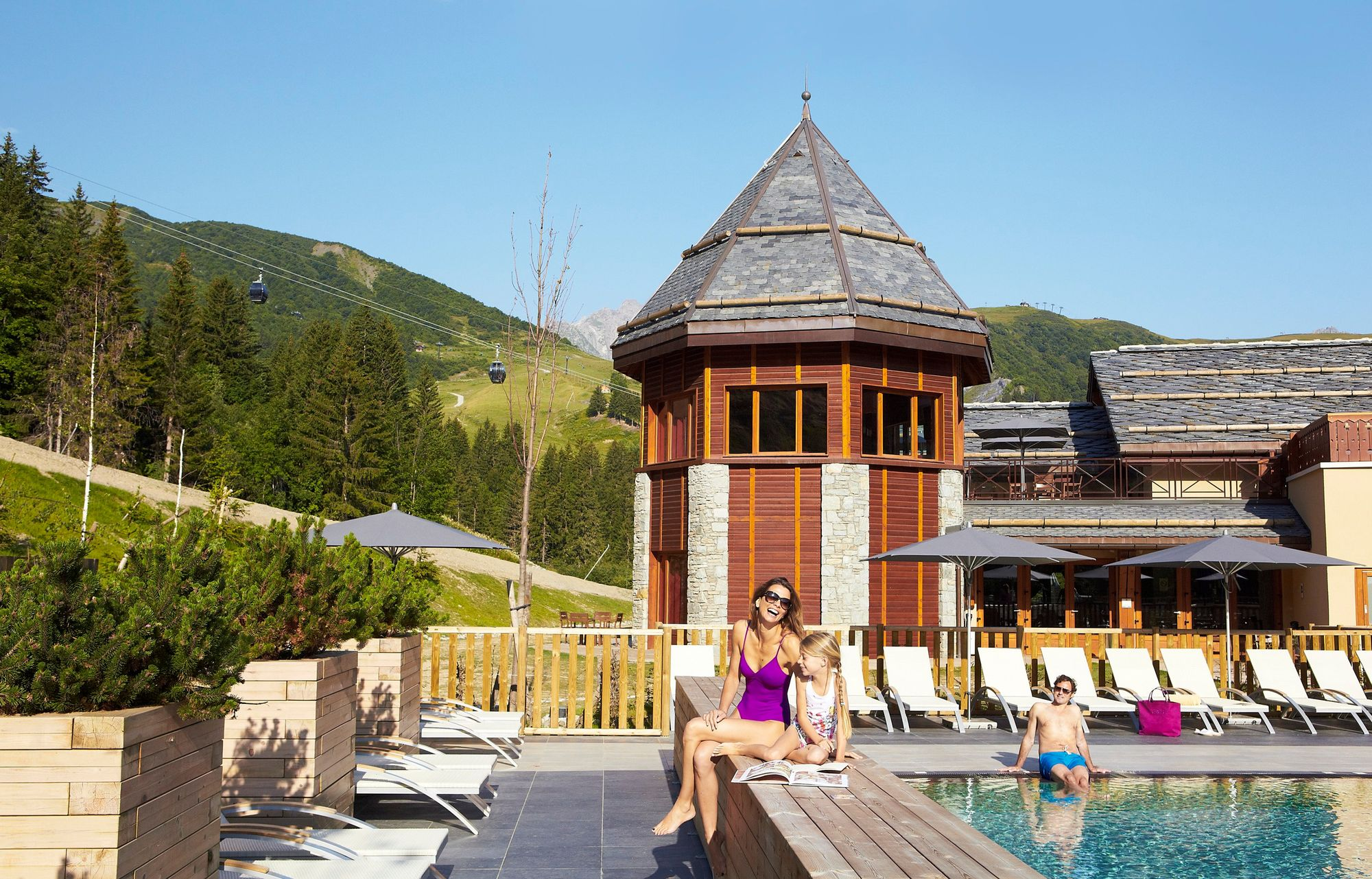 Les chalets club med r sidences valmorel for Piscine valmorel