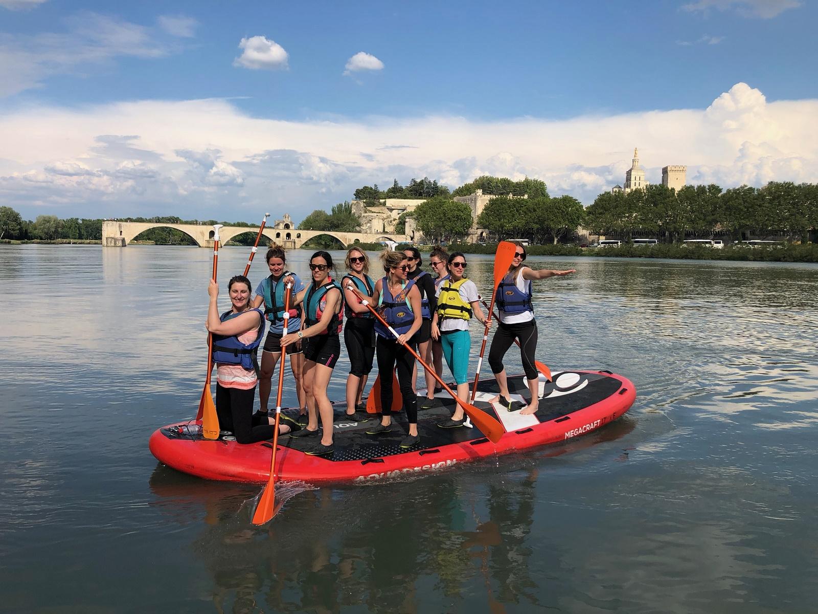 Paddle sur le Rhône